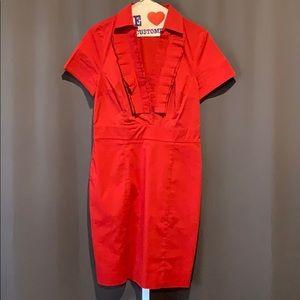 The Limited Ruffled V-Neck Short Sleeve Dress SZ 8